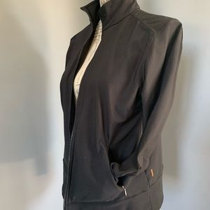 LUCY brand black full-zip polyester jacket M